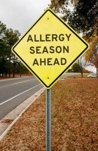 Sign says allergy season ahead