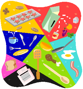 Healthy Recipes/Assorted Utensils and Food Items Icon