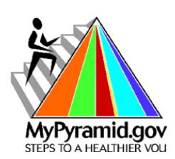 Meal Planning/MyPyramid.gov Logo