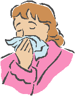 Exceptional Times/Woman Blowing Nose into Tissue Icon